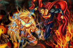 goku vs superman | The Cawspiracy -> Comics Random Pics