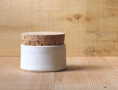 MTO salt cellar white porcelain jewelery box office supply organizer modern minimal rustic pottery. $25.00, via Etsy.