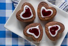 Runeberg Cakes (Runebergin Torttu) from the Vagabond Baker Finnish Recipes, Sugar Icing, Danish Food, Ground Almonds, Little Cakes, Yummy Cakes, Cake Recipes, Raspberry, Yummy Food
