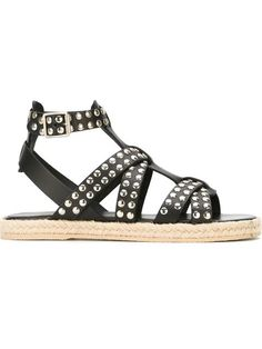Shop Saint Laurent studded open toe sandals in Vitkac from the world's best independent boutiques at farfetch.com. Shop 400 boutiques at one address.
