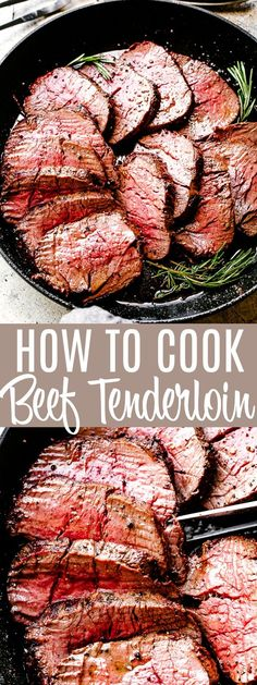 Roasted Beef Tenderloin - Easy recipe for how to make the juiciest Beef Tenderloin! Full of amazing flavor, a garlic and herb crusted beef tenderloin with an easy, no marinating required technique. chiristmas dinner How To Cook Delicious Beef Tenderloin Easy Beef Tenderloin Recipe, Beef Tenderloin Roast, Roasted Beef Tenderloin Recipes, Roast Recipes, Cooking Recipes, How To Cook Beef, Beef Steak, Filets, Beef Dishes