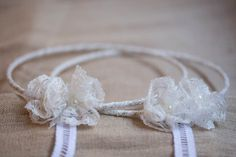 STEFANA White HANDMADE Stefana WEDDING Crowns by MadeOfBlissArt