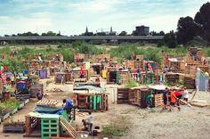 Dutch children build their own village in 4 days at an ingenious, industrious summer camp