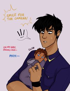 """sOLACE PUT THE CAMERA AWAY"" so, yesterday, i got asked about nico being godfather to jason/piper's kid and it made me think of this omg"