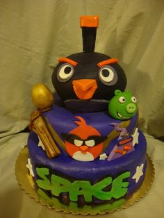 Angry birds cake — Children's Birthday Cakes