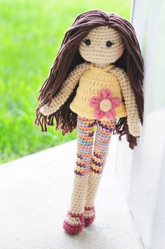 Crochet Doll 15 long Ready to ship. by LinaMarieDolls on Etsy ♡