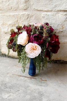 Bridal white and ivory loose silk flower wedding bouquet garden burgundy and peach silk flower wedding bouquet mightylinksfo