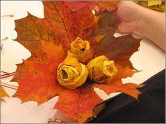 Maple leaf roses.