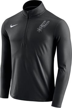 7f5ce00c702d6 Nike Men s San Antonio Spurs Dri-FIT Black Element Half-Zip Pullover