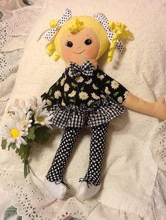 "PDF Cloth Rag Doll Pattern Daisy Easy Great Beginner Sewing Pattern for 18""…"