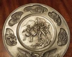 Vintage Hudson Pewter Collector Plate Serial # 11270
