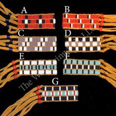 Wampum Bracelet  3 Row Matte Assorted