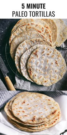 The easiest most versatile fool proof and delicious paleo cassava flour tortillas! Mix up and cook in 5 minutes! Make them thick thin crisp or soft! Gluten free and dang delicious! Paleo Tortillas, Paleo Naan, Coconut Flour Tortillas, Cauliflower Tortillas, Cauliflower Bread, Whole Food Recipes, Cooking Recipes, Healthy Recipes, Celiac Recipes