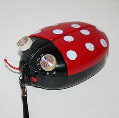 Omg I had this! Vintage Ladybug AM Radio Transistor 1970s Likto by That70sShoppe, $ 40.00