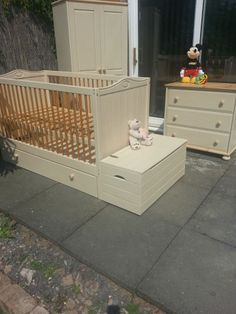 Wardrobe drawers and toybox painted with annie sloan chalk paint