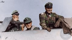 Helmut Dörner(right) with his staff (26 June 1909 in Mönchengladbach – 11 February 1945 in Budapest) was a highly decorated German Waffen-SS...
