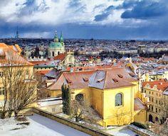 Wintry light in Prague • Czech Republic