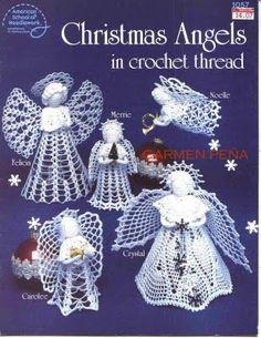 Ángeles de Crochet para Navidad