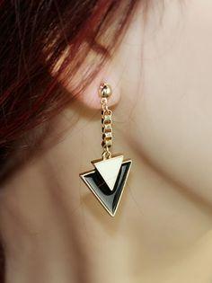 #SheInside Popular Individual Triangle Punk Drop Earring - Sheinside.com
