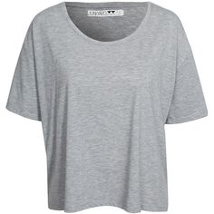 Xx-Xy Courtney Basic ($12) ❤ liked on Polyvore featuring tops, grey, womens-fashion, oversized tops, short sleeve tops, short sleeve crop top, crop top and grey crop top