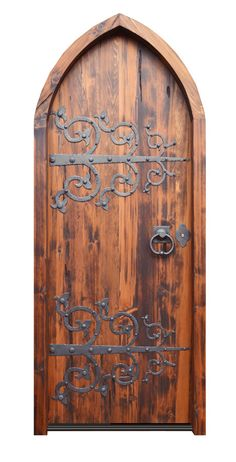 Love the iron work  Google Image Result for http://www.scottsdaledoorfactory.com/images/CustomCathedralDoor3244AT.jpg
