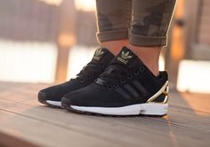 adidas ZX Flux Black Gold | Sneakers Madame