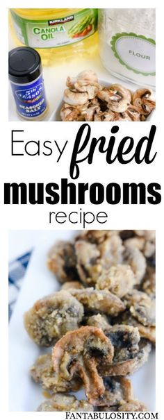 Easy fried mushrooms recipe! How to make these pan or deep fried! Yummy side dish or appetizer!