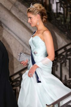 Princess Tatiana of Greece departs from the wedding of Princess Madeleine and Christopher O'Neill at The Royal Palace on 8 June 2013 in Stockholm, Sweden.