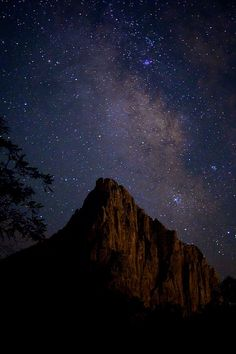 Watchman and the Milky Way    Zion National Park, Utah    by Garber Geektography