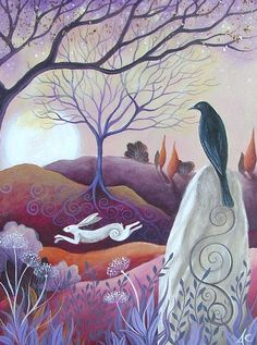 Hare and Crow by Amanda Clark-the equinoxes