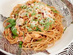 Get this all-star, easy-to-follow Creamy Lobster Linguine recipe from Giada De Laurentiis