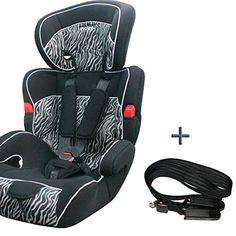 SIEGE AUTO+CEINTURE ISOFIX POUR BEBE ENFANT GROUPE 1/2/3 DE 9 A 36KG 8 COLORIS *ZEBRE* 208*