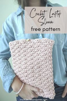 Create the lotus laptop case using this free crochet pattern. This easy and durable case will keep your laptop stylish and safe. Create this case today! #crochet #crochetpattern #freepattern #diylaptopcase #laptopsleeve