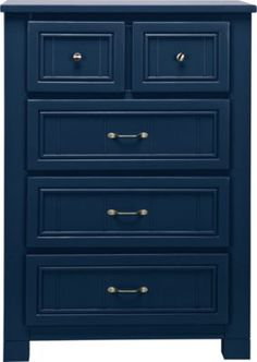 I love the color of blue on this dresser. Possibly redo our dresser with this color