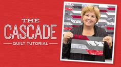 """Make a Cascade Quilt with Jenny! Jenny demonstrates how to make a pretty Cascade Quilt using a binding tool as a template and 2.5 inch strips of precut fabric (jelly rolls). Jenny used The Forever Collection 2.5"""" Strips by Judy and Judel Niemeyer for Timeless Treasures.  Video: 8:54min- Approx. quilt size: 76"""" x 89"""""""