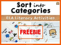 Sort Into Categories Activities Freebie – Best Art images in 2019 Vocabulary Activities, Speech Therapy Activities, Language Activities, Teaching Activities, Preschool Songs, Speech Language Pathology, Speech And Language, Life Skills Classroom, Play Therapy Techniques