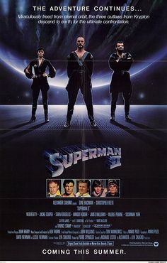 Superman II advance movie poster