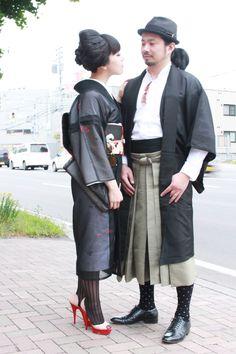 Fashionable Kimono Style/ The Japanese Kimono Kimono Japan, Yukata Kimono, Japanese Kimono, Japanese Style, Asian Street Style, Tokyo Street Style, Japanese Street Fashion, Traditional Kimono, Traditional Outfits