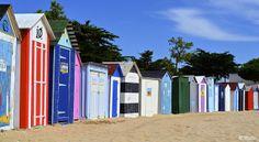 """Les cabanes de plage à """"Saint Denis d'Oléron"""" Ile d'Oléron - France"""