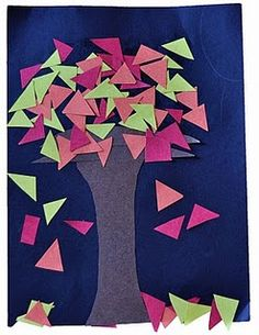 Shapes Fall Tree - each student could do a different shape or we could do a different shape each day and they would each have their own Shape Tree Book.