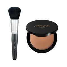 Pinch your powder brush to make an instant contour brush