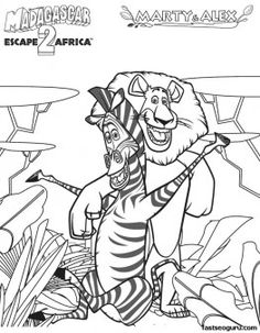 44 best coloring pages madagascar images coloring pages Madagascar Landscape printable madagascar 2 marty and alex coloring pages printable coloring pages for kids