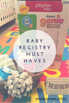 Baby Registry Must Haves and a Baby Shower Gift Basket on Sparkles and Lattes #NurseryMusts #ad #collectivebias