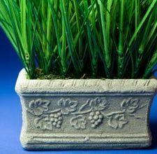 how to make planters.  concrete, perlite & peat moss