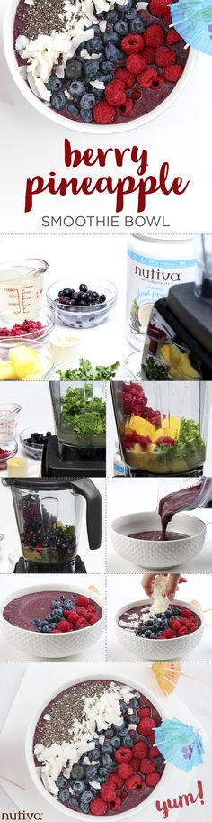 Berry Pineapple Smoothie Bowl kitchen.nutiva.com