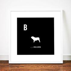 Dog blueprints bulldog art print poster english british por weaversofsouthsea malvernweather Gallery