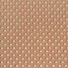 Upholstery Fabric Gold Red Nubby Squares Decor Crafts Vtg Designer .75 Yard #Unbranded