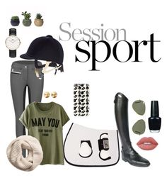 """Horsebackriding Outfit"" by lijifhorse on Polyvore featuring Mode, Parlanti, Ray-Ban, Eddie Borgo, Lime Crime, Casetify, OPI, H&M und Daniel Wellington"