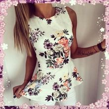 2016 Women Floral Regular Sleeves O-Neck Cosy New Arrival Fashion Casual Style Hot Sale Summer Lady Shirts(China (Mainland))