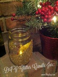 DIY Gold Glitter Candle Jar